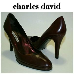 Charles David Burgundy/Wine Leather Pumps